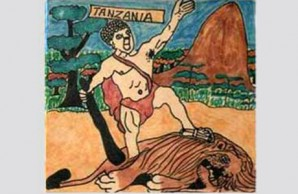 Tanzania lion Postcards
